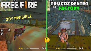 2 NUEVOS TRUCOS EN FACTORY PARA ESTAR OCULTO FREE FIRE ESCONDITES PARA SER INVISIBLE EN FREE FIRE