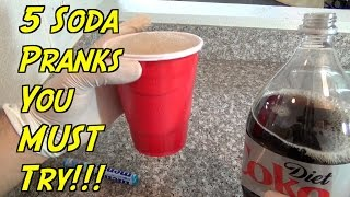 5 Soda Pranks You Can Do At Home - HOW TO PRANK (Evil Booby Traps)