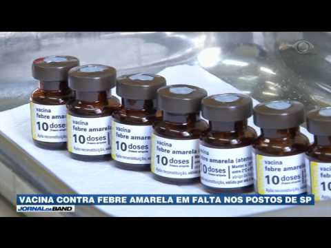 SP: Vacina contra febre amarela está em falta nos postos