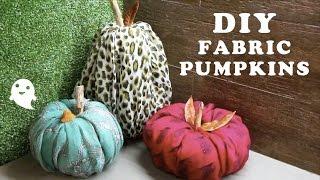 DIY Fabric Pumpkins (Easy, NO Sew!)