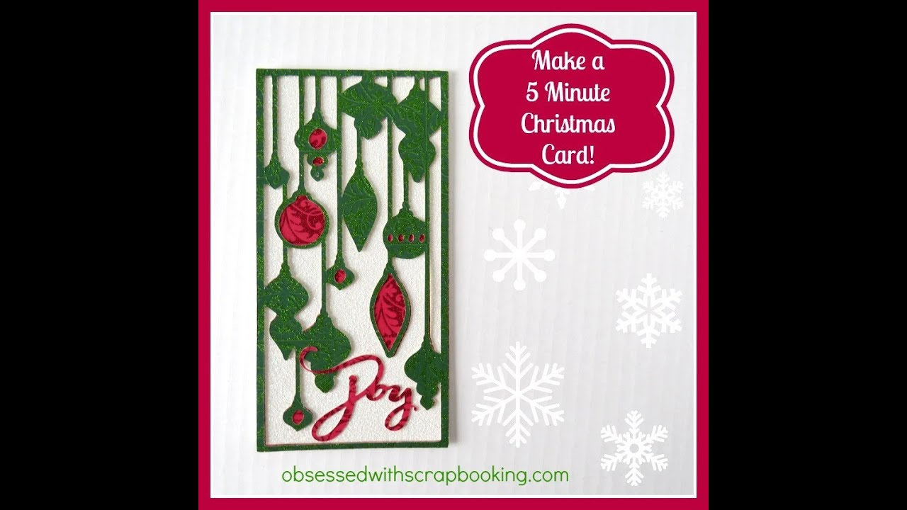 Make a 5 Minute Christmas Card with Close to My Heart ...