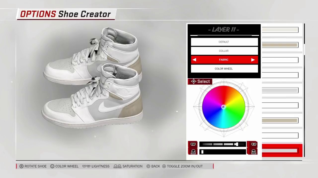 NBA 2K18 Off White X Jordan 1 white shoe tutorial - YouTube cfe357237