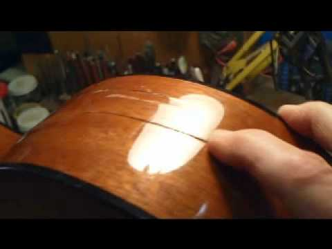 Cracked Acoustic Guitar Repair Keith Holland Youtube