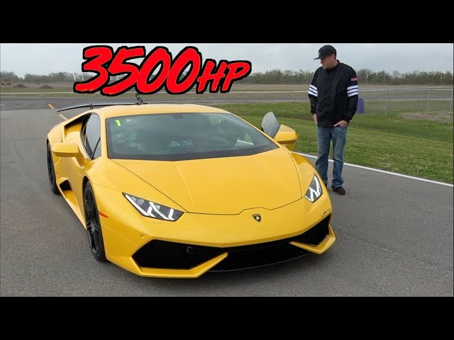 3500HP Lamborghini Mind Blowing ACCELERATION to 229MPH!