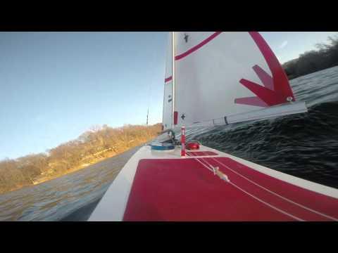 'International One Meter' RC sail boat  Black Swan Lake