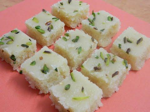 Nariyal Barfi / Nariyal-Khoya Barfi / Coconut Fudge / Halwai Style Barfi - By Food Connection