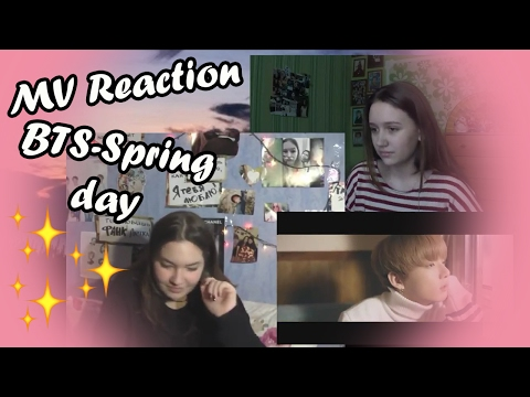 MV REACTION BTS '봄날 (Spring Day) || RUSSIAN REACTION!!!РЕАКЦИЯ НА BTS - SPRING DAY часть 1