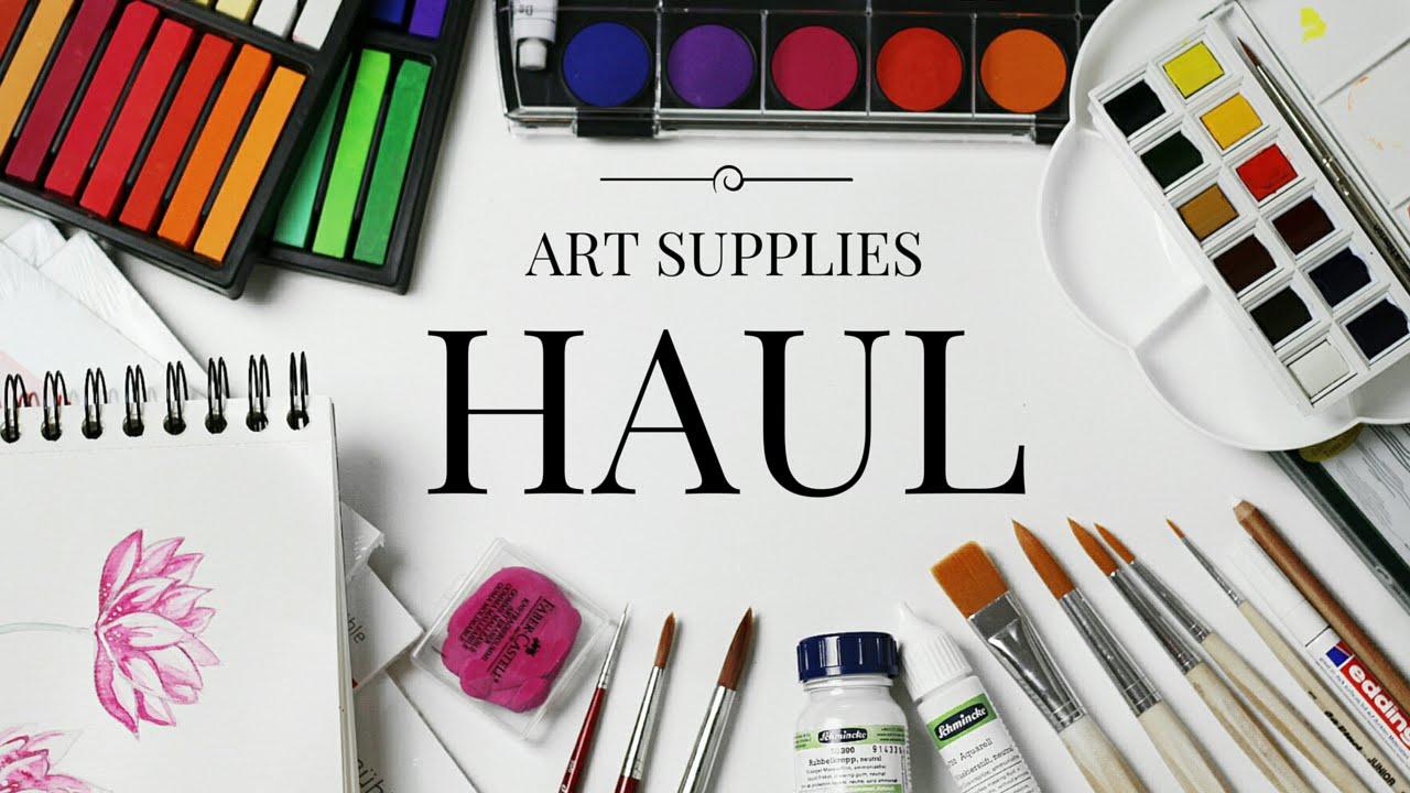 Art Supply Haul Youtube