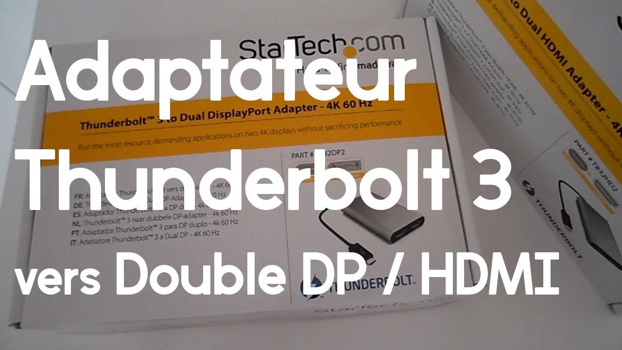 Avoir 3 crans sur son pc adaptateur thunderbolt 3 for Ecran pc 5k