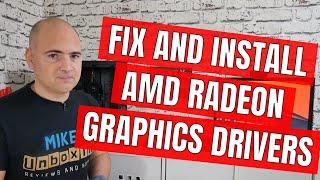 AMD Radeon GPU Install Error FIX & Driver Clean Up