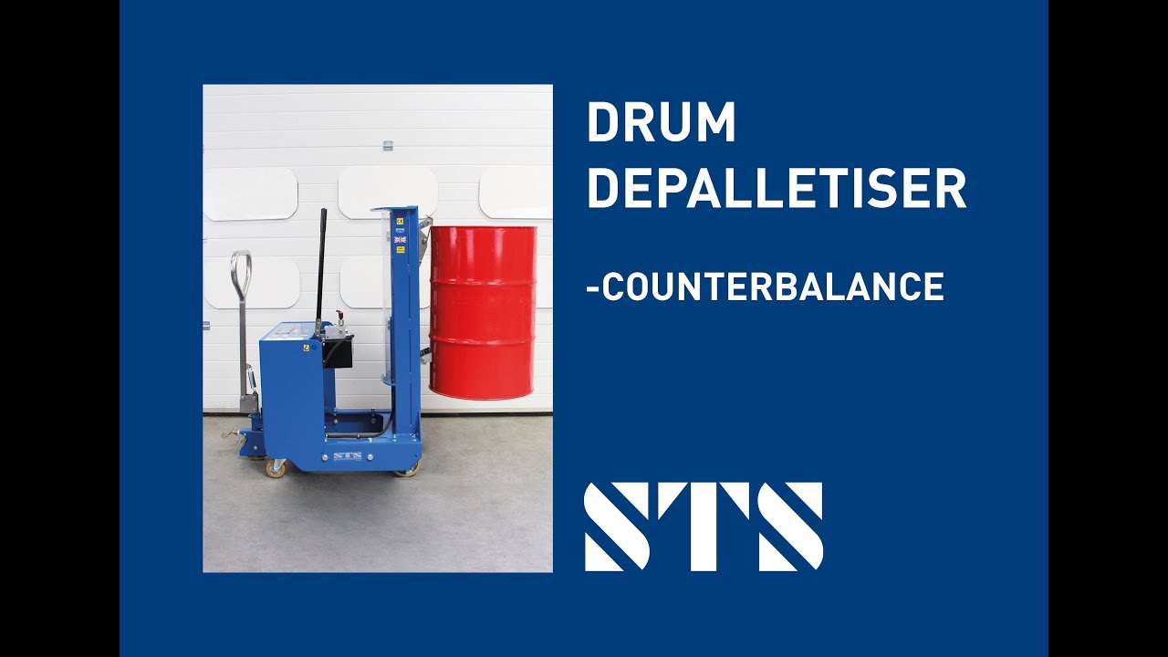 STS - Counterbalance Drum Depalletiser Drum Lifter, Drum Mover (Model: DTP08-250kg)