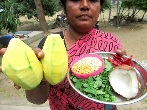 FRESH MANGO CHUTNEY Cooking in Village Style |  Spicy Sour Taste | VILLAGE FOOD