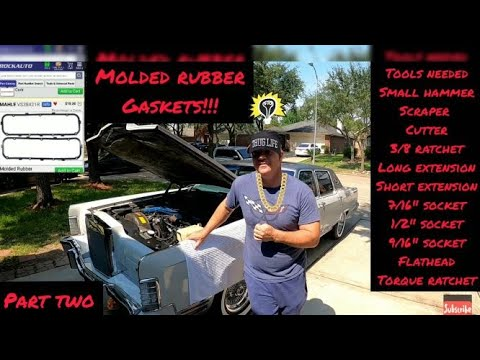 How to replace valve cover gasket 1978 Lincoln Continental Town Car Pt. 2