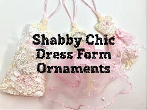 Live, DIY Christmas Ornaments & Decor/Shabby Chic Dress Form Ornaments