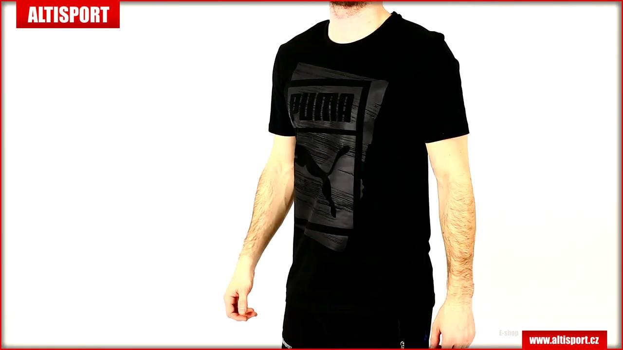 773abb389204 pánské triko puma graphic brand box tee 57673901 cotton black - YouTube