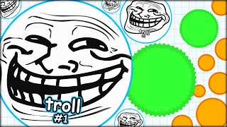 AGARIO TROLLING! BIGGEST TROLLS EVER #1 ON THE SCOREBOARD! (THE MOST ADDICTIVE GAME - AGAR.IO #9)