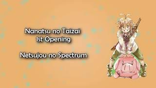 Gambar cover Nanatsu no Taizai OP 1 - Netsujou no Spectrum Lyrics