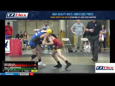Mat 12 87 Leo Deluca New Jersey Red Vs Billy Greenwood Colorado Red