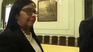 Así echan a Delcy Rodriguez llorando en pleno parlamento internacional