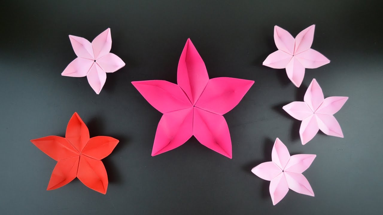 Origami Sakura Flower Cherry Blossom Instructions In English