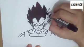 Como dibujar a vegeta - Dragon Ball Z - How to draw vegeta
