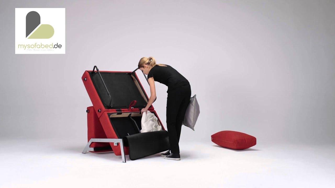 cubed 90 schlafsessel von innovation 90x200 cm g stebett youtube. Black Bedroom Furniture Sets. Home Design Ideas