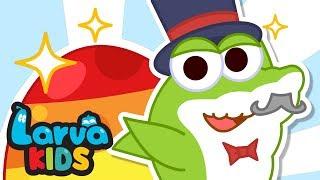 NEW! SURPRISE EGGS - SHARK FAMILY | EGG SONG | SUPER BEST SONGS FOR KIDS | LARVA KIDS