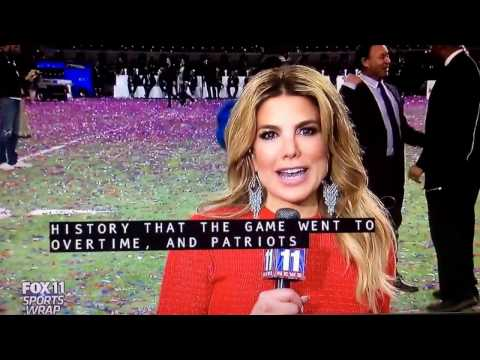 KTTV Fox 11 Sports Wrap open February 5, 2017 with commercials