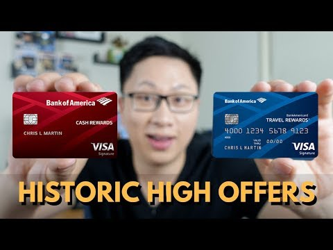 BoA Historic High Offers: Cash and Travel Rewards