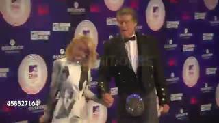 David Hasselhoff with Hayley Roberts at MTV EMA Aw