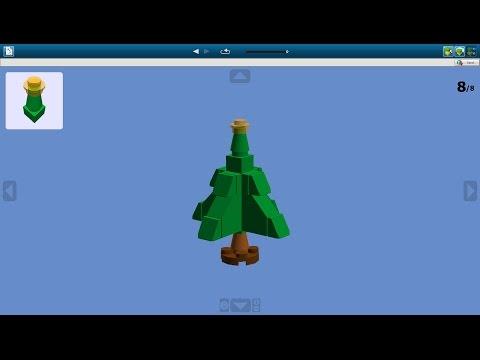 Cмотреть видео онлайн Как сделать мини новогоднюю ёлку из Lego Верися 2 / How to make a mini Christmas tree out of Lego