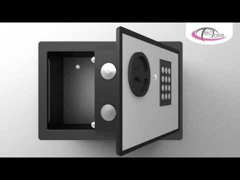 TecTake - Mini coffre fort avec serrure électronique à code et écran digital