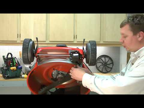 Husqvarna Lawn Mower Repair - How to Replace the Drive Cable - YouTube