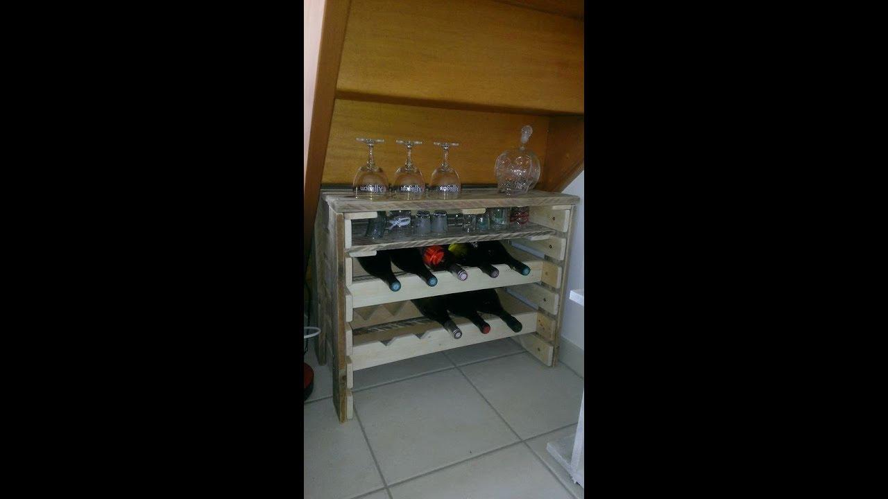 cave a vin en palette elegant gallery of construire sa a vin en bois galerie et a suspendre en. Black Bedroom Furniture Sets. Home Design Ideas