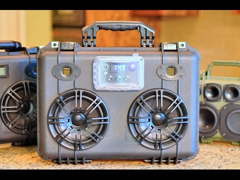 FOR SALE Custom Pelican 1500 Bluetooth Boombox: 50W/ch & Bluetooth v4.0/aptX & Two way speakers!