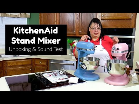 Kitchenaid Professional Hd Stand Mixer Unboxing And Sound Test Professional Hd Vs Pro 5 Plus Youtube