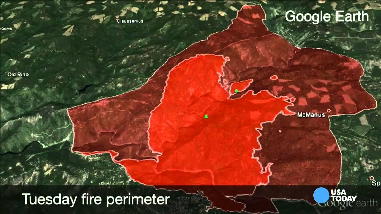 Google Earth Fire Map California King fire Google Earth flyover   YouTube