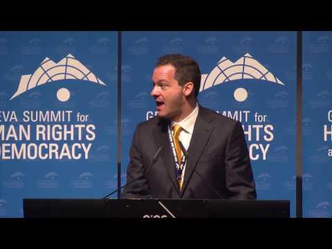 Panel on fighting oppression defending human rights at Geneva Summit 2017