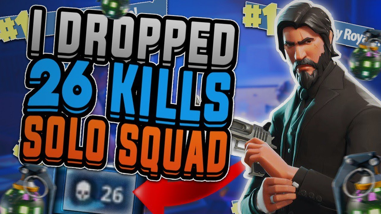 FORTNITE BATTLE ROYALE | 26 KILL SOLO SQUAD!!! ~ INTENSE ...