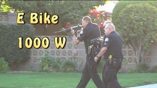 Police Chase On E Bike 1000 Watt