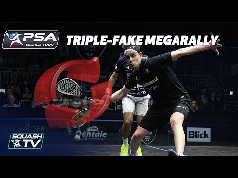 """HE'S DONE THE TRIPLE FAKE!"" - Squash MegaRally - Willstrop v Gawad"