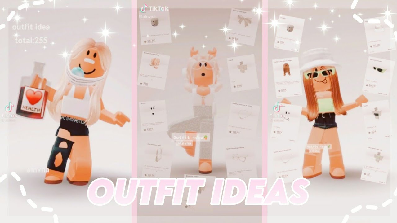 Aesthetic Roblox Outfit Ideas Tiktok Compilation Youtube