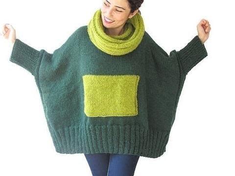 Двухцветный Свитер Спицами - 2019 / Two-tone Knitting Sweater
