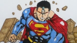Drawing Superman Man Of Steel, DC comics