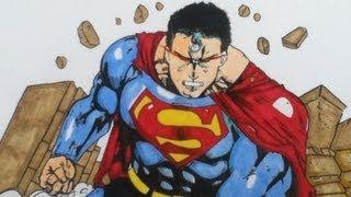Drawing Superman Man Of Steel, DC comics