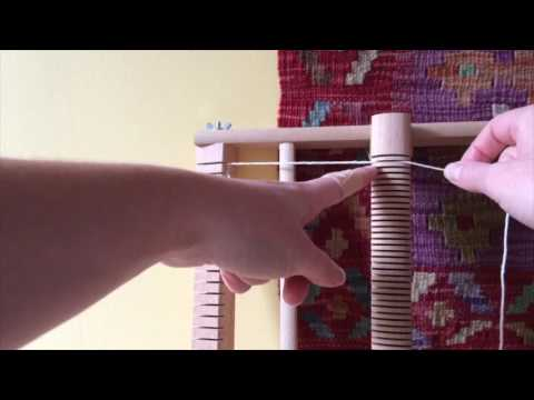 How to warp a weaving frame loom ? - willyarn