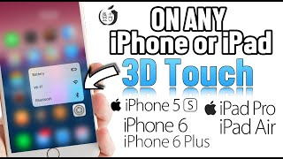 Enable 3D Touch on Any iPhone or iPad iOS 9.3.3 Jailbreak