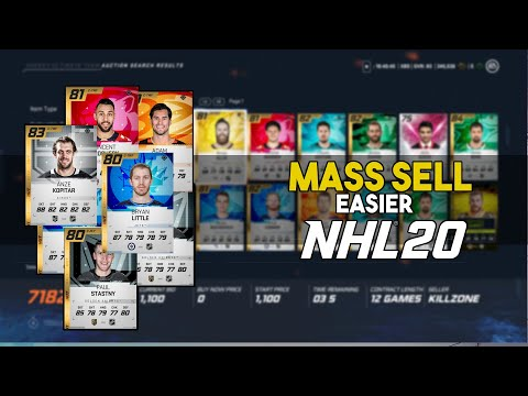 NHL 20 Auction House Tip: Sell Your Cards Easier!