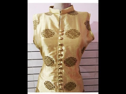 Indian & Pakistani Sherwani and long jacket style suit (kurti) Cutting and Stitching