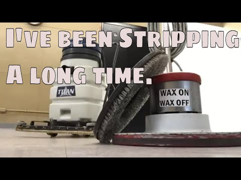 Stripping and Waxing VCT floor care. | Running a cleaning business